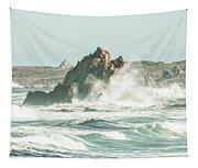 Aquatic Spray Tapestry