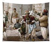 Arab Stonemasons, C1900 - To License For Professional Use Visit Granger.com Tapestry