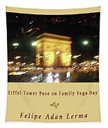 Arc De Triomphe By Bus Tour Cover Art Tapestry