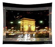 Arc De Triomphe By Bus Tour Greeting Card Poster V1 Tapestry