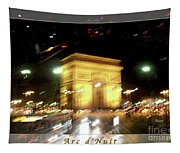 Arc De Triomphe By Bus Tour Greeting Card Poster V2 Tapestry