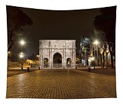Arch At Night Tapestry