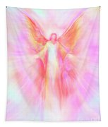 Archangel Metatron Reaching Out In Compassion Tapestry