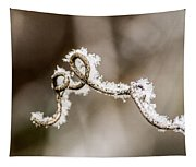 Arched Frosty Curlique Tapestry