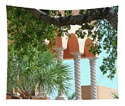 Arches Thru The Trees Tapestry