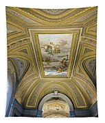 Architectural Artistry Within The Vatican Museum In The Vatican City Tapestry