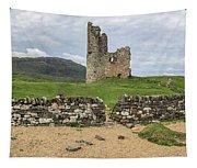 Ardvrek Castle Panorama 0842 Tapestry