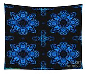 Area Blue Abstract Tapestry