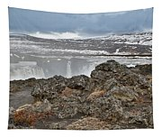 Area By Godafoss Waterfalls, Iceland Tapestry