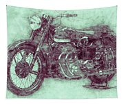 Ariel Square Four 3 - 1931 - Vintage Motorcycle Poster - Automotive Art Tapestry