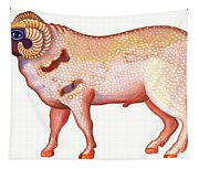 Aries The Ram Tapestry