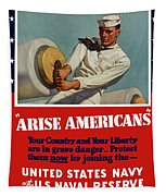 Arise Americans Join The Navy  Tapestry