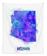 Arizona Map Watercolor 2 Tapestry
