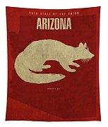 Arizona State Facts Minimalist Movie Poster Art Tapestry