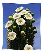 Arizona State Flower- The Saguaro Cactus Flower Tapestry