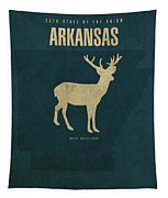 Arkansas State Facts Minimalist Movie Poster Art Tapestry
