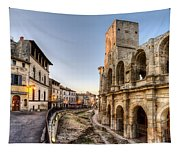 Arles Streets And Arena Tapestry