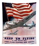 Army Air Corps Recruiting Poster Tapestry