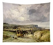 Arrival Of A Stagecoach At Treport Tapestry