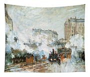 Arrival Of A Train Tapestry
