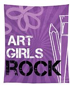 Art Girls Rock Tapestry