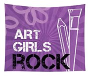 Art Girls Rock Tapestry