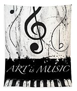 Art Is Music-music In Motion Tapestry