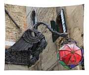 Art Nouveau Dragon In Marzaria Venice Italy Tapestry