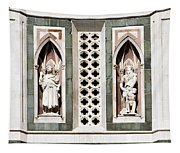 Art On Duomo In Florence Italy Tapestry