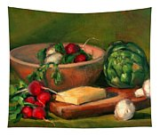 Artichoke And Radishes Tapestry