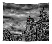 Artistic Bass Harbor Lighthouse In Acadia Tapestry