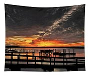 Artistic Black Sunset Tapestry