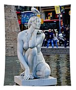 Artistic Statue That Has Gone To The Birds In Barcelona Tapestry