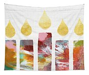 Artists Menorah- Art By Linda Woods Tapestry