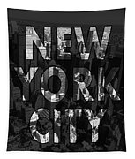 New York City - Black Tapestry