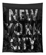 New York City - Black Tapestry