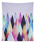 Colorful Abstract Geometric Triangle Peak Woods  Tapestry