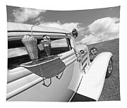 Deuce Coupe At The Drive-in Black And White Tapestry