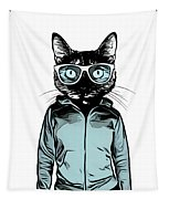 Cool Cat Tapestry by Nicklas Gustafsson