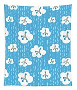 Clouds And Methane Molecules Pattern Tapestry