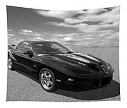 Pontiac Trans Am Ram Air In Black And White Tapestry