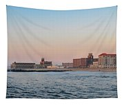 Asbury Park Boardwalk From The Beach Tapestry