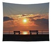 Asbury Park Boardwalk Sunrise Tapestry