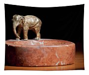 Ashtray With Elefant Tapestry