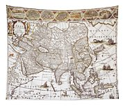 Asia: Map, C1618 Tapestry