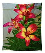 Asian Lilly Spring Time Tapestry