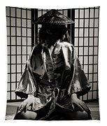Asian Woman In Kimono Tapestry