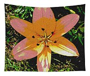 Asiatic Lily With Sandstone Texture Tapestry