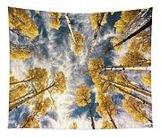 Aspen Tops Towards The Sky Vintage  Tapestry