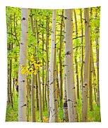 Aspen Tree Forest Autumn Time Portrait Tapestry
